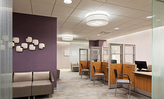 Located On One Floor Of A Hospital In St. Louis Park, Minnesota, The Clinic  Also Incorporates Space For Community Outreach And Education Programs.